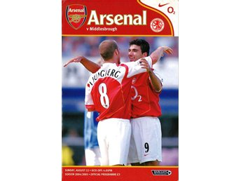 Arsenal - Middlesbrough (Premier League - 22.8.2004)