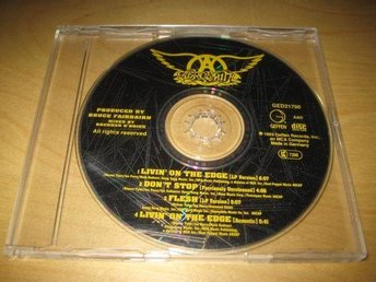 AEROSMITH - LIVIN´ ON THE EDGE.  CD-SINGEL.