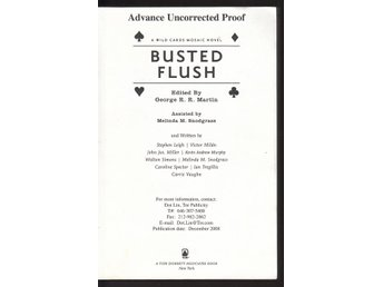 Editor George R.R. Martin - Busted flush - Uncorrected proof
