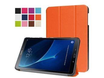 Samsung Galaxy Tab A 10.1 (2016) T580 T585 Vikbart Smart Fodral Stativ Orange