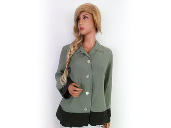 B storlek 42 Jacket linne silke grönt SAMFRAKT - Ciechanów - B storlek 42 Jacket linne silke grönt SAMFRAKT - Ciechanów
