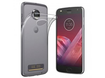 Motorola Moto Z2 Play Silikon skal Transparent Färg: Transparent
