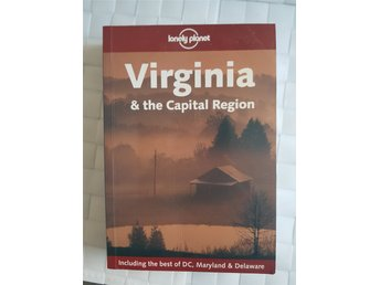 "Bok: Lonely planet ""Virginia & the Capital Region"". Resehandbok på engelska."