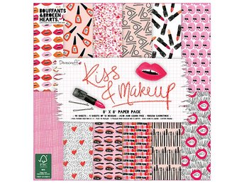 REA! Scrapbooking papper - 20 x 20 - Kiss & Makeup - 12 ark