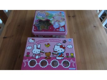 2 Barnspel My little Pony och Hello Kitty