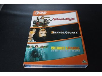 DVD-box: School of Rock + Orange County + Without a paddle