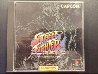 Street Fighter Collection till Playstation - Fighting - 2CD - Japansk
