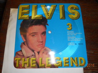 ELVIS THE LEGEND 3 - Intervjuskiva Limited Edition fyrkantig EP bildskiva