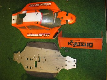 Beg: Bottenplatta, vinge, kaross Kyosho MP777