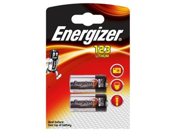 ENERGIZER Batteri CR123 Lithium 2-pack