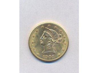 USA tio dollar guldmynt 1901 - Tyresö - USA tio dollar guldmynt 1901 - Tyresö