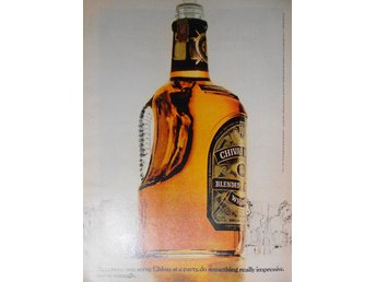 CHIVAS REGAL, TIDNINGSANNONS Retro 1978