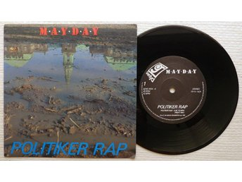 "MAYDAY 'Politiker Rap' 1987 Danish 7"" - Bröndby - MAYDAY 'Politiker Rap' 1987 Danish 7"" - Bröndby"