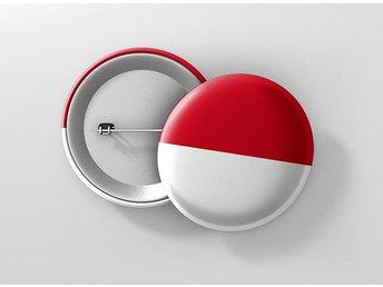 Monaco Flagga Pin / Knapp / Badge Stor 57mm - Kuala Lumpur - Monaco Flagga Pin / Knapp / Badge Stor 57mm - Kuala Lumpur