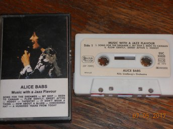 ALICE BABS Nils Lindberg Music with a jazz flavour, kassett Swedish Society 1973