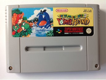 Yoshi's Island Super Mario World 2 SNES Super Nintendo
