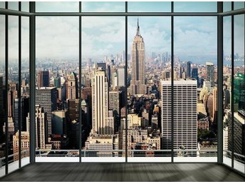 REA NEW YORK TAPET PENTHOUSE SKYLINE WALLPAPER WALL PAPER VÄGG PLANSCH FOTOTAPET