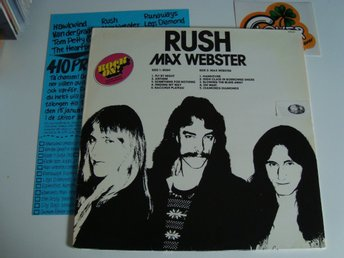 Rush, Max Webster   Rock On  1977 Swe  Rare Press...