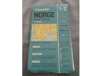 Karta Syd Norge.Karta Over Syd Norge 1968 Retro Cappelen 343345142 ᐈ Kop Pa Tradera