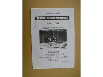 Rally Program Hällefors Statoil-Midvintersprinten 5/2 2000