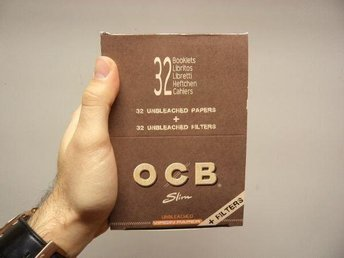 OCB Kingsize Slim Filter DISPLAY (King Size Filtertips Rullpapper Rull papper) - Nyköping - OCB Kingsize Slim Filter DISPLAY (King Size Filtertips Rullpapper Rull papper) - Nyköping
