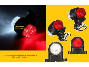 Javascript är inaktiverat. - Götene - Beskrivning2 Stx 12V/ 24V - 8 LED Sidomarkerings lampa Röd/ vit Släp- Lastbil - Caravan, mm Specifikationer: Ljusfärg: Röd och vit LED Mängd: 8 LED Kabellängd: ca.21cm Spänning: 10 30V DC För mer information kontakta os - Götene