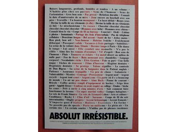 Reklam Absolut Vodka Absolut Irrésistible Zoom Cards Canada