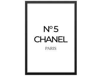 Affisch Poster Coco Chanel Perfume Number No 5 33x48