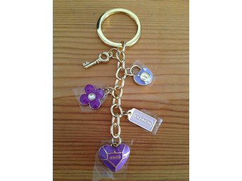 Coach flower key ring