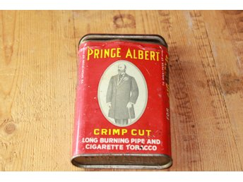 Plåtburk Prince Albert cigarett tobac ask