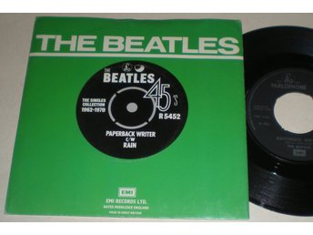 Beatles 45/PS Paperback writer / Rain UK 1976 VG++