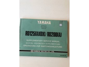 Yamaha MC service manual RD125(A)(DX)/RD200(A) Service manual