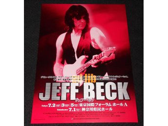 JEFF BECK - KONSERTFLYER REKLAMBLAD JAPAN 2005
