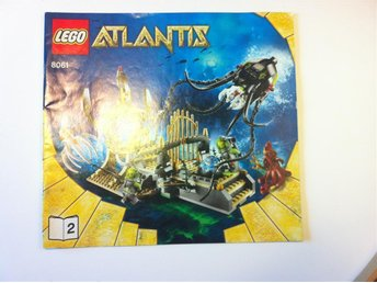 LEGO MANUAL TILL ATLANTIS SET 8061 GATEWAY OF THE SQUID 2/2 - Stockholm - LEGO MANUAL TILL ATLANTIS SET 8061 GATEWAY OF THE SQUID 2/2 - Stockholm