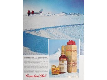 CANADIAN CLUB, TIDNINGSANNONS Retro 1978