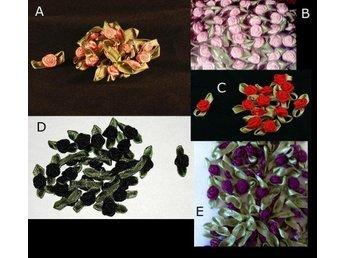 18 rosor med blad av grönt band - Vallentuna - 18 rosor med blad av grönt band - Vallentuna