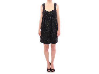 Dolce & Gabbana - Black floral crystal embedded dress