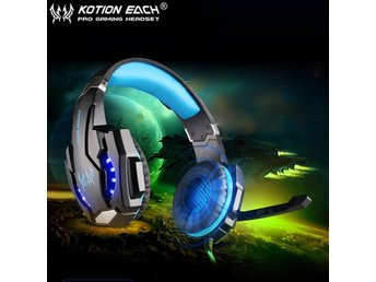 EACH G9000 BLUE USB 7.1 Surround Sound PC Gaming Headphone Headset PS4 Xbox One