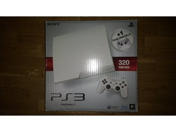 PlayStation 3/PS3 Slim 320GB WHITE i kartong med handkontroll & kablage HDMI