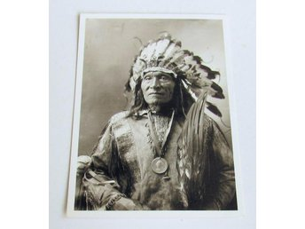Vykort He Dog Sioux indian 1900 foto John Anderson REA 9kr