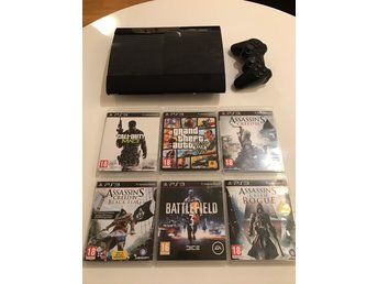 Playstation 3 / PS3 Super Slim 500 GB + 6 spel