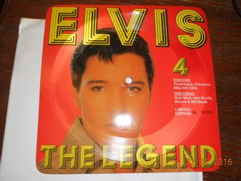 ELVIS THE LEGEND 4 - Intervjuskiva Limited Edition fyrkantig EP bildskiva