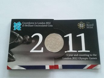 5 PUND - Countdown to OS London 2012 Brilliant UNC Royal Mint