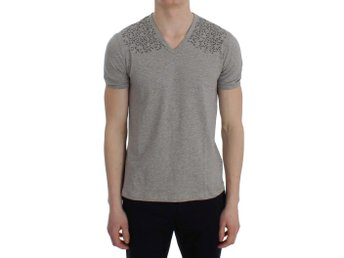 Ermanno Scervino - Gray Cotton Stretch V-neck Underwear T-shirt