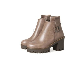 Dam Boots Shoesspring and Autumn Ladies Boots Khaki 42