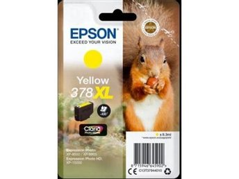 Epson Singlepack Yellow 378XL Claria Photo HD Ink