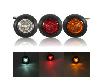 Universal Amber/Red/White Side Marker Light LED Lamp for ...