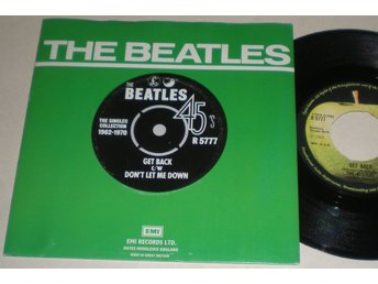 Beatles 45/PS Get back / Don´t let me down UK 1976 VG++