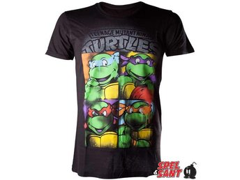 Teenage Mutant Ninja Turtles Graffiti T-Shirt Svart (Medium)