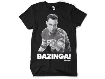 Big Bang Theory T-shirt Sheldon Says Bazinga S